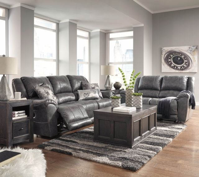 Buy Ashley Furniture Persiphine Leather Reclining Sofa and Loveseat