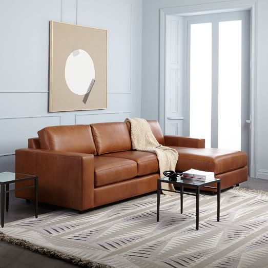 Urban Leather 2-Piece Chaise Sectional | west elm