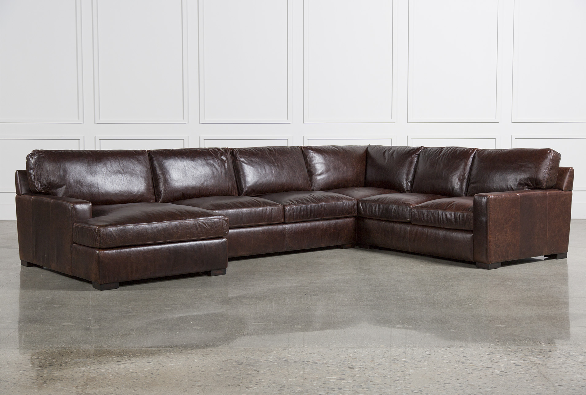 Gordon 3 Piece Sectional W/Laf Chaise | Living Spaces