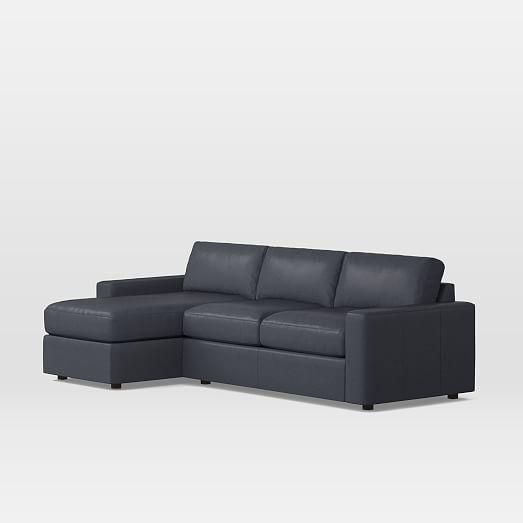 Urban Leather Sleeper Sectional w/ Storage | west elm