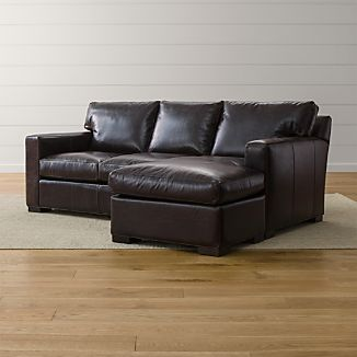 Living room furniture ideas –   leather sectional sleeper sofa