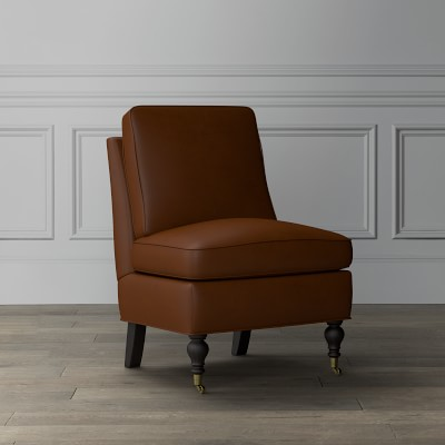 Kate Leather Slipper Chair | Williams Sonoma