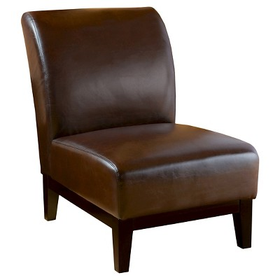 Darcy Slipper Chair Brown - Christopher Knight Home : Target