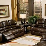 An overview leather sofa and   loveseat