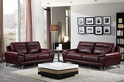 Amazon.com: Cortesi Home Phoenix Genuine Leather Sofa Collection