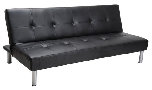 MAINSTAYS Faux Leather Sofa Bed - Black | Walmart Canada