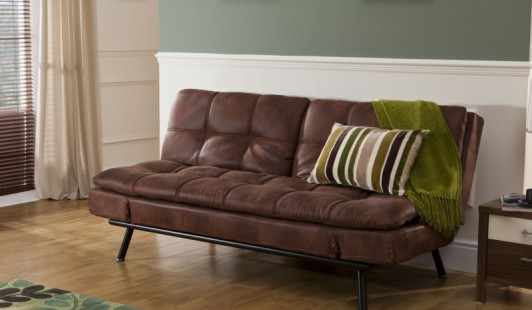 Texas Faux Leather Sofa Bed | Bensons for Beds