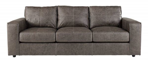 Trembolt Smoke Leather Sofa - Sofas | Furniture Deals Online