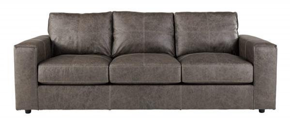 Trembolt Smoke Leather Sofa - Sofas | Furniture Deals Online