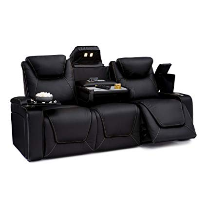 Amazon.com: Seatcraft Vienna Home Theater Seating Leather Sofa