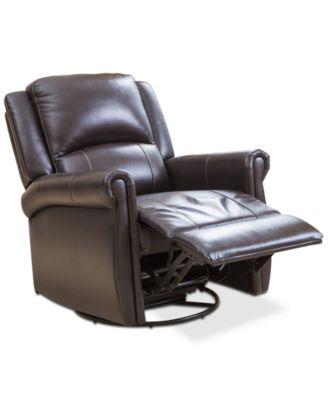 Abbyson Living Brayala Swivel Recliner, Quick Ship - Furniture - Macy's