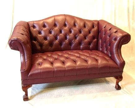 Courageous Leather Tufted Loveseat Or Small Tufted Loveseat Full