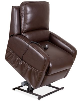 Furniture Karwin Leather Power Lift Reclining Chair - Furniture - Macy's