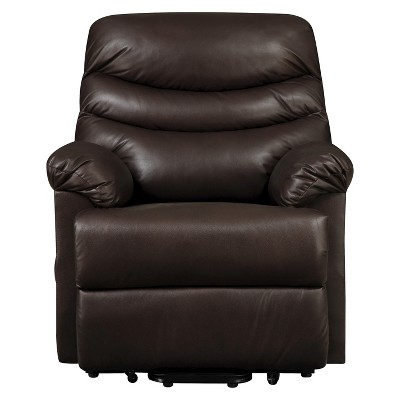 Wall Hugger Convert-a-Couch Renu Leather Power Lift Recliner Chair