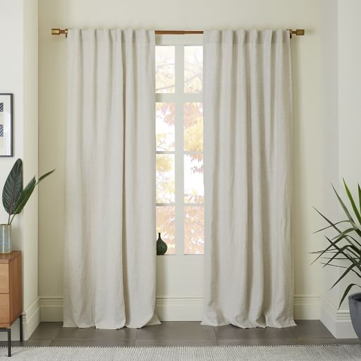 How to take care of linen   curtains?