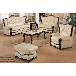 Leather Living Room Furniture   Wayfair