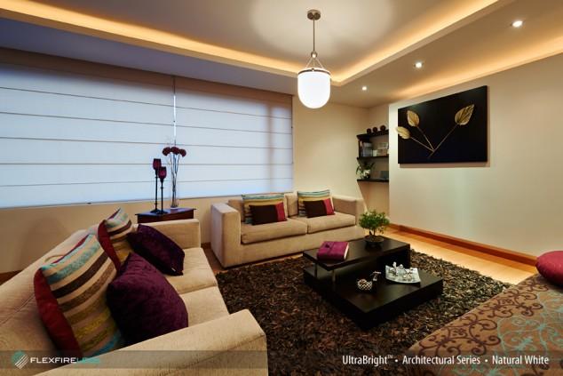 Enjoy living room lighting   with led