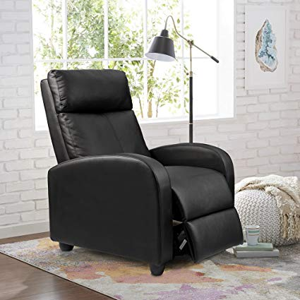 Amazon.com: Homall Single Recliner Chair Padded Seat Black PU