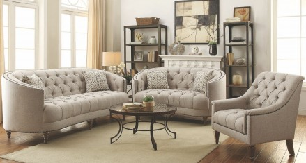 Coaster Avonlea Stone Grey Living Room Set - Avonlea Collection: 15