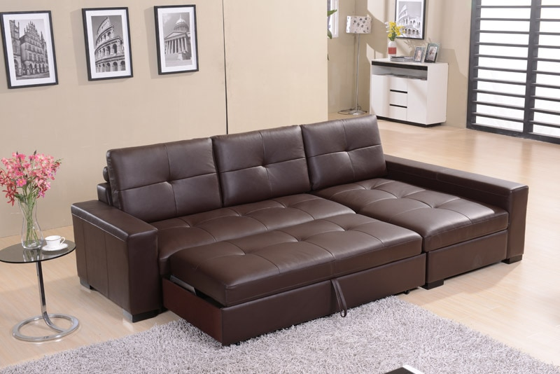 Leather sofa leather living room corner leather multifunction