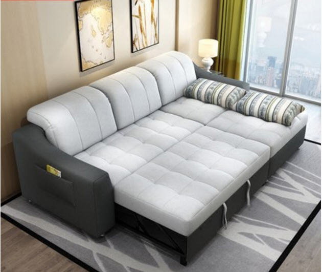 Extending a look of glamour to   your living room courtesy of the sofa bed