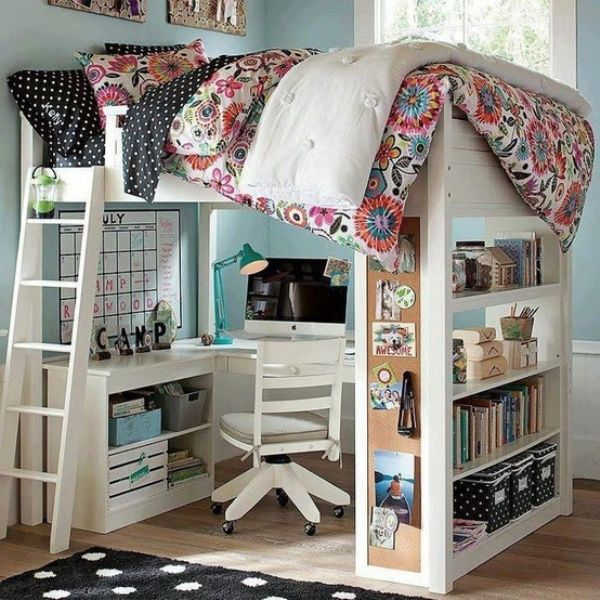 20 Loft Beds With Desks To Save Kid's Room Space | Kidsomania | Kids