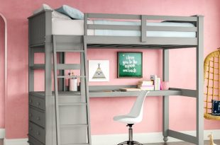 Harriet Bee Javin Loft Bed With Desk & Reviews | Wayfair