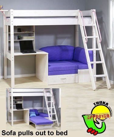loft bed with couch and desk - Google Search u2026 | Wish list in 2019u2026