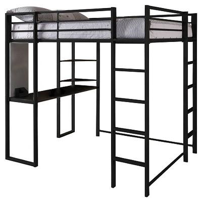 Adele Loft Bed With Desk (Full) Black - Room & Joy : Target