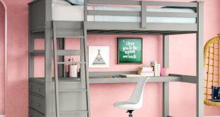 Harriet Bee Javin Loft Bed With Desk & Reviews | Wayfair
