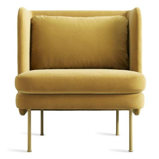 Modern Velvet Lounge Chair - Bloke Collection   Blu Dot