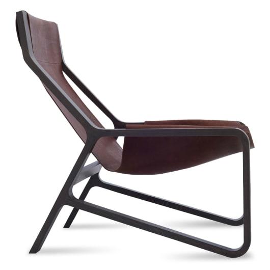 Toro Sling Lounge Chair - Leather Sling Chair   Blu Dot