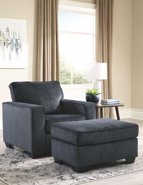The Altari Slate Sofa, Loveseat, Chair & Ottoman available at