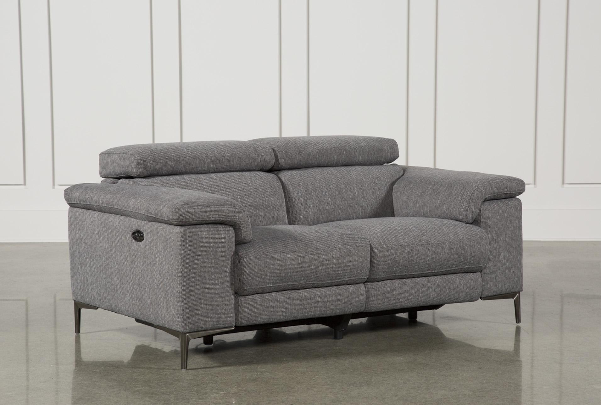 Talin Grey Power Reclining Loveseat W/Usb | Living Spaces