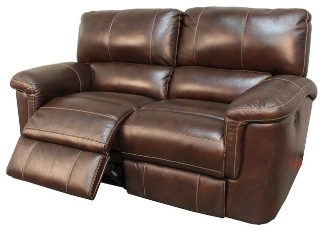 Parker House Hitchcock Dual Power Recliner Loveseat, Cigar