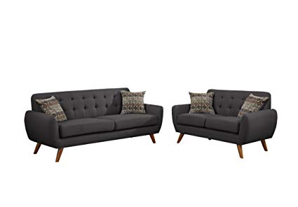Amazon.com: Poundex F6913 Bobkona Sonya Linen-Like 2 Piece Sofa and