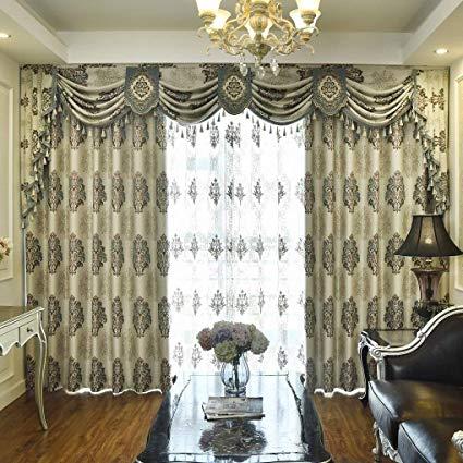 Amazon.com: Queen's House Luxury Drapes Valances Curtains Grommet