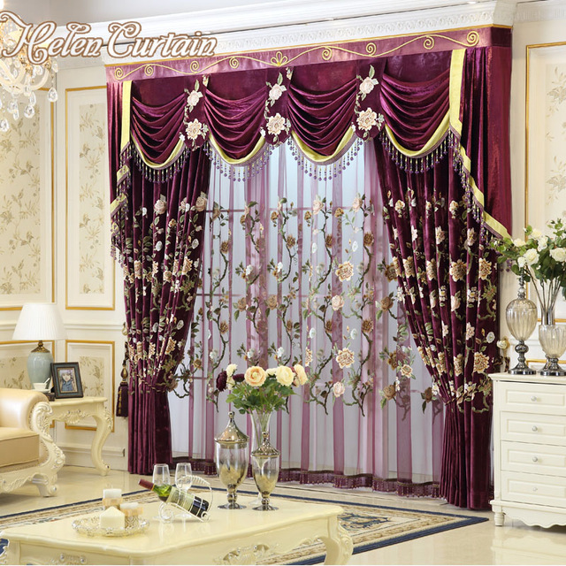 Helen Curtain New Luxury Curtains for Living Room European Style