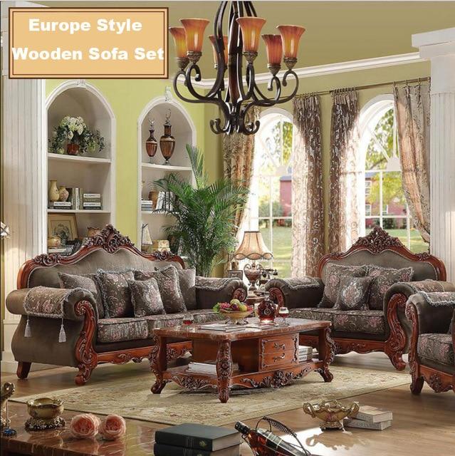Webetop Modern Design Luxury Sofa set Hand Craft Oak Wood Home