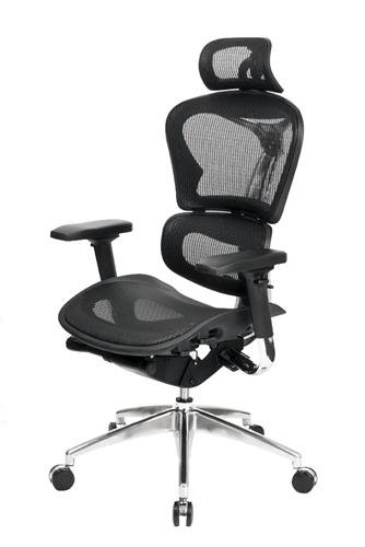 At The Office 6 Series High Back Mesh Chair with Headrest 6H-BMBM-PA