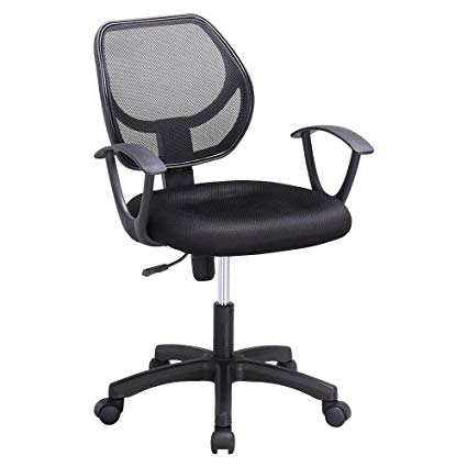 Amazon.com: Topeakmart Home Office Chair Mesh Fabric Back Computer
