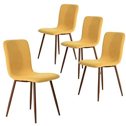Amazon.com - Coavas Set of 4 Dining Chairs Fabric Cushion Kitchen
