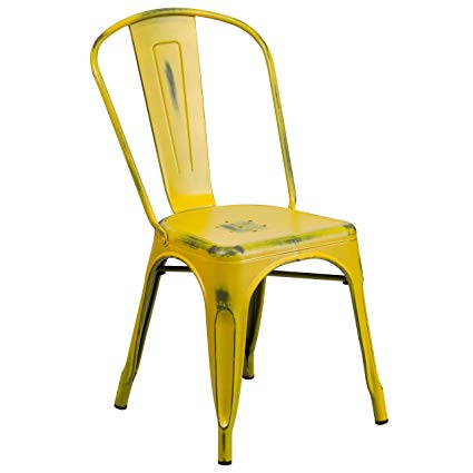 Metal yellow chairs for modern   living rooms