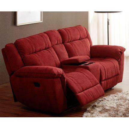 Cranberry Microfiber Power Reclining Loveseat - K-Motion   furniture