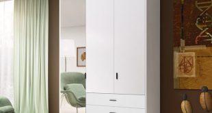 Orren Ellis Ward Mirror Wardrobe Armoire | Wayfair