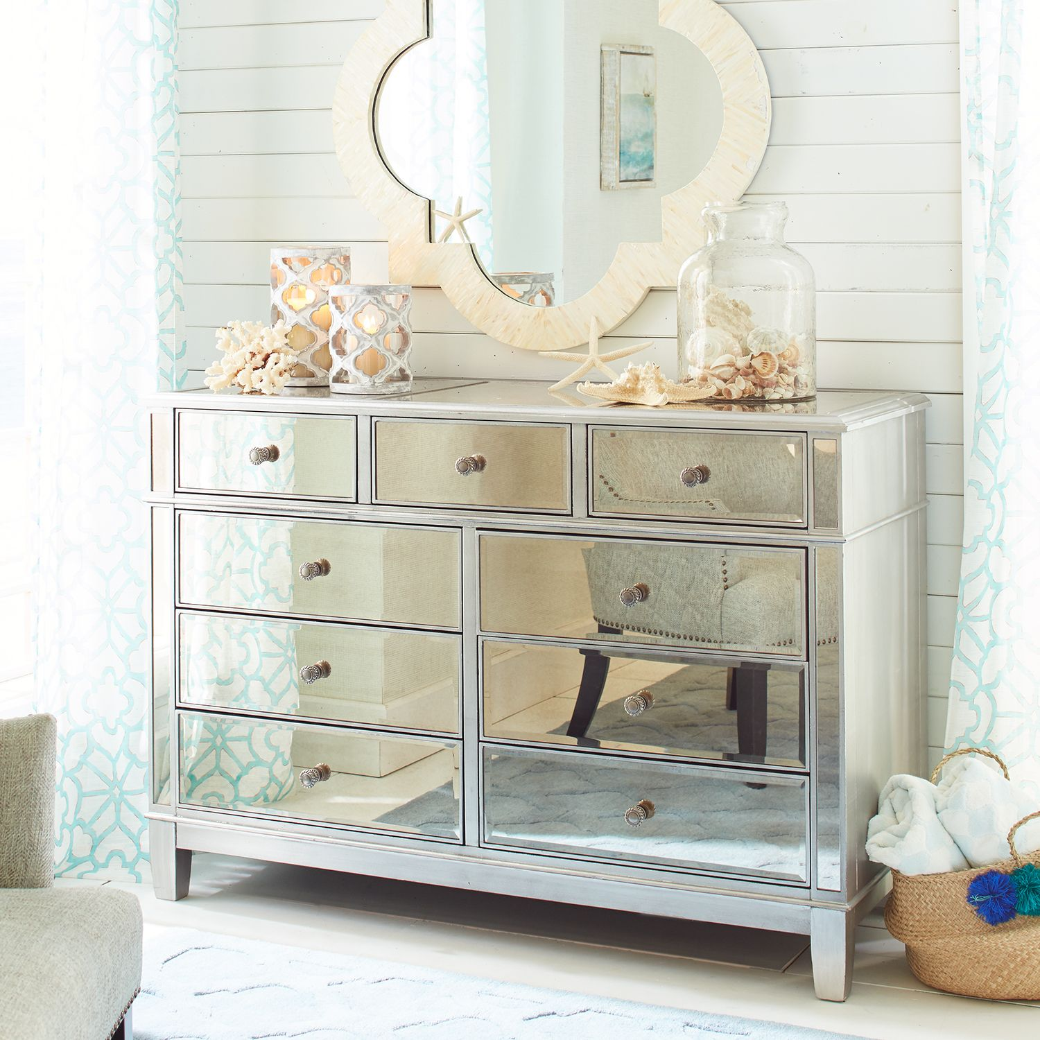 Hayworth Mirrored Silver Dresser | Pier 1