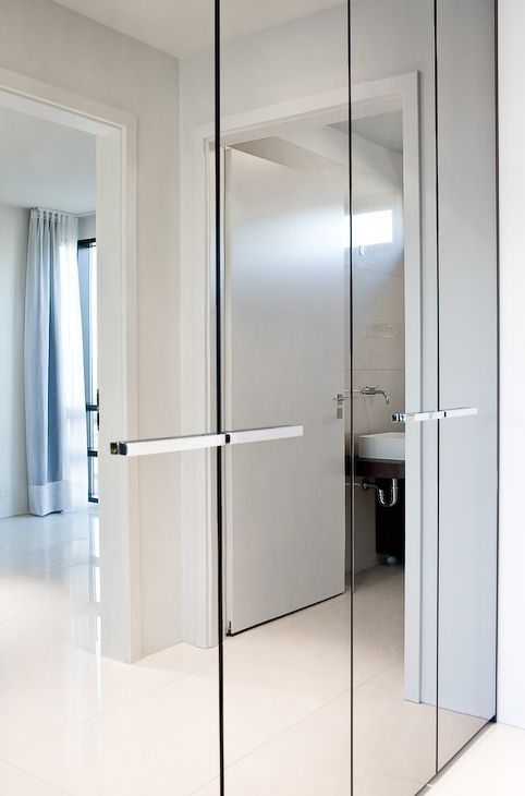Bright and luminous, apartment by T18 with mirrored wardrobes _