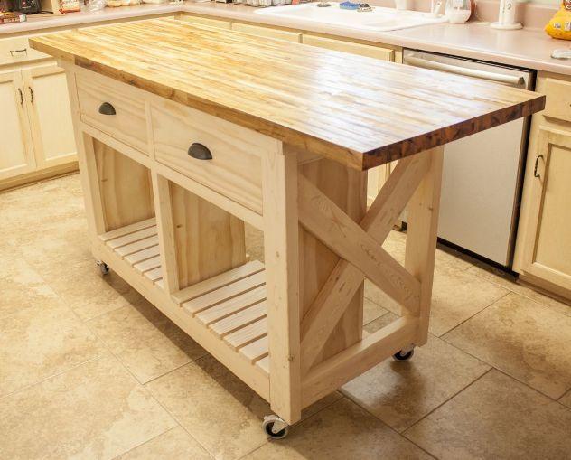 small mobile kitchen island butcher block | Kitchen Islands