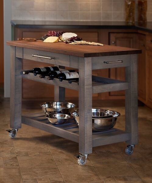 Mobile kitchen island will   completely change the look of your kitchen.