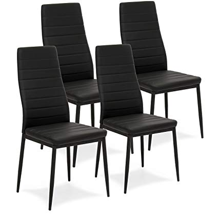 Amazon.com - Best Choice Products Set of 4 Modern High Back Faux